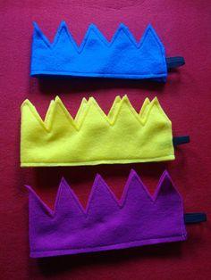 Felt crowns - another shape