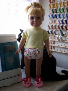 """Abbie's Sewing and Stuff: 18"""" Doll T-Shirt Finish"""