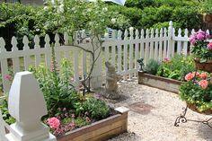 Potager with Picket Fence by thegardenbuzz, via Flickr