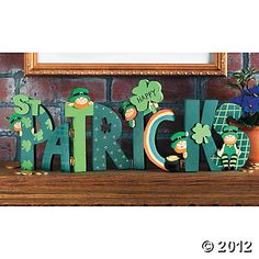 """""""Happy St. Patrick's"""" Wood Letters, St. Patrick's Day Crafts"""