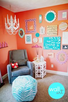 We may not have a nursery right away, but I love these color combinations for her room.
