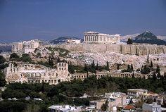 ATHENS, GREECE View of the Acropolis