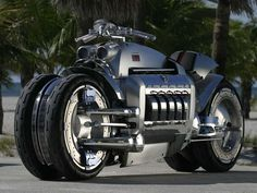 Yeah, so this isn't a car but the Dodge Tomahawk is powered by the Viper V-10.  Now that's a crotch rocket. ;)