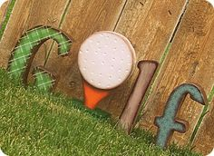 craft, father day, golf gifts, wood blocks, golf party games, wooden letters, diy, costa brava, backyards