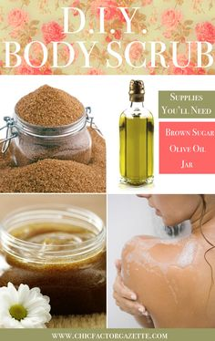 Learn how to make body scrub at home. #DIY