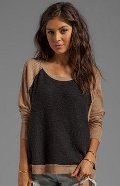 two tone sweater sweaters, fashion, cloth, style, tone sweater, tabbard pullov, free peopl, closet, pullov sweater