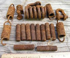 Rusty Metal Springs & Threaded Bolts  Various by HighDesertRust, $7.00 #assemblage #rusty #supplies #industrialsalvage #salvage