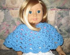 American Girl Doll Lacy Shells Poncho Crochet Pattern