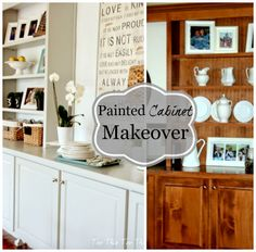 Top This Top That: Breakfast Room Cabinet Refresh
