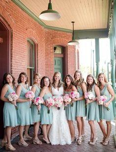 mint bridesmaids!