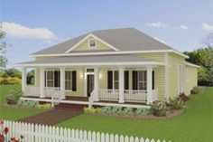 Simple Southern Country Home Plan. Plan 44-193