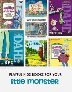 Playful Kids Books for Your Little Monster *great list of titles and children's activities
