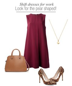 colorful shift dress in oxblood look - fashion outfits for work - for pear shaped women.