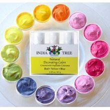Natural food dyes made from concentrated vegetable colorants