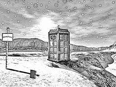 dr. who coloring pages | Madame Pompadour and the Tardis can be whatever color you like. I ...