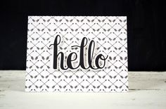 hello card with offset tutorial