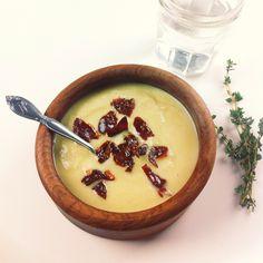 paleo creamy cauliflower soup with crispy prosciutto - so delicious ...