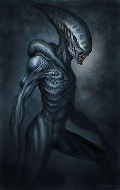 Alien-like, Giger-inspired art