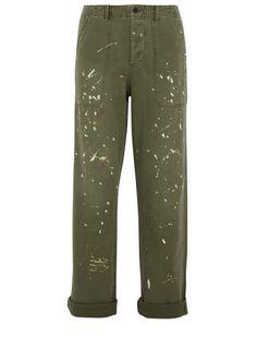 J Crew painted cotton boyfriend pants