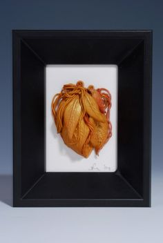 Textured  Ceramics  3D  Art Twining  Leaves  by WhiteEarthStudio
