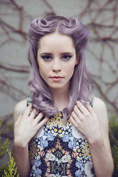 So pretty...love this shade of purple. #lavender #pastel hair