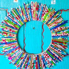 Darling Wrapping Paper Wreath | FaveCrafts.com