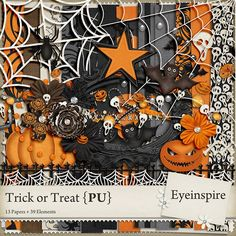 Quality DigiScrap Freebies: Trick or Treat full kit freebie from Eyeinspire