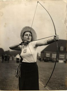 Archer Patty Elsener at the 1948 Olympics in London.