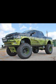 Huge lifted Dodge Ram