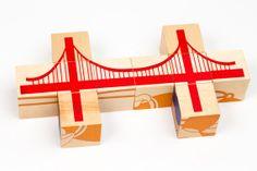 Bridge Blocks - Wooden puzzle building blocks