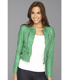 MICHAEL Michael Kors Soft Leather Zip Jacket