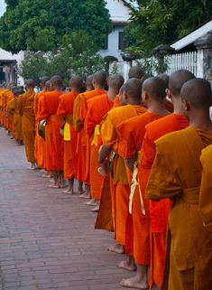 Morning alms in Luang Prabang, Laos    #travel #laos #asia #morningalms #bucketlist #amazingdestinations #luangprabang