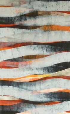 Doug Glovaski   Stream #3, oil and wax on paper.