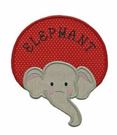 Elephant Patch - Applique for Kids