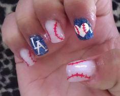 LA Dodgers Nails