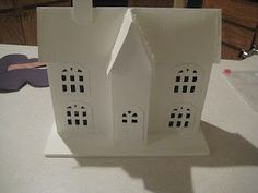 cardboard houses - with links to templates