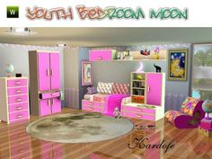 Sims 3 Finds - Youth Bedroom Moon at Kardofe Sims 3