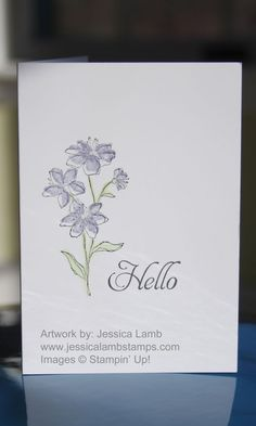 Simply soft note card
