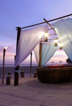 An idea for a hot tub privacy canopy