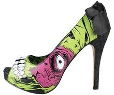 Zombie stripper heels... I would definitely rock these!