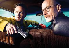 Jesse Pinkman and Walter White in Breaking Bad.