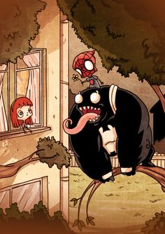 Spider-Man and Venom When They Were Kids (7)