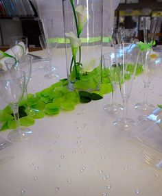 D co de table vert on pinterest - Idee deco de table mariage ...