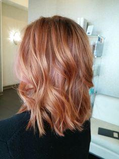 Rose Gold Hair using Wella Illumina @greathairbykrystina