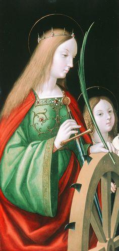 Andrea Solario, St. Catherine.
