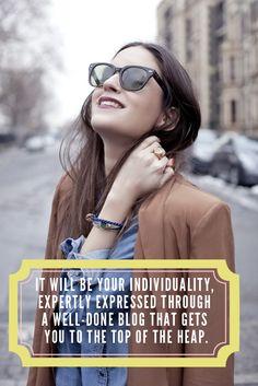 Blogger individuality