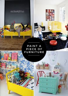 paint furniture, colorful furniture, kids diy, painted furniture, kid spaces, painting furniture, old dressers, kid rooms, accent furniture