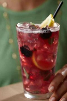 Spiked Blackberry Elixir- Malibu Rum, sage, fresh lemon juice, coconut water....so good from Bonefish Grill