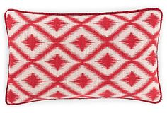 Red cushion on OneKingsLane.com