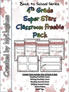 This freebie pack let's you sample what you will get in the full 4th Grade Super Stars Classroom Pack. One full set of radiant red! FREE!